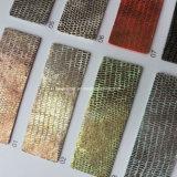 Cuir synthétique d'unité centrale de lézard iridescent pour les sacs Hx-S1721 de chaussures