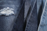 Cross Hatch Slub 100% Coton Denim Fabric 11.4oz