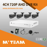 Kit barato del CCTV de la cámara 4CH del H. 264 720p Day&Night HD-Ahd al aire libre