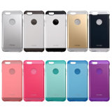 de choque abundante do caso do iPhone 7 (4.7 POLEGADAS) escudo plástico bonito fino magro híbrido duro absorvente da tampa [prova do risco] + borracha de TPU interna