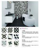 Porcelaine glacée indienne noire et blanche Tile20*20cm