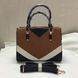 高品質カラー衝突の学生かばんのハンド・バッグの女性PUのハンドバッグSy8040