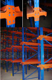 Movimentação da solução do armazém do metal nas cremalheiras