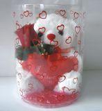 Tubo di plastica del regalo su ordinazione con stampa (contenitore di regalo di natale)