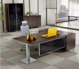 둥근 강철 금속 기초 나무로 되는 행정실 테이블 (HX-NCD015)