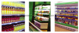 De Diepvriezer van de Showcase van de supermarkt voor Melk en Dranken