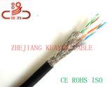 4 пары кабеля SFTP Cat5e/кабеля компьютера/кабеля данных/кабеля связи/тональнозвуковых кабеля/разъема