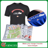 De Qingyi de la fábrica etiqueta engomada del traspaso térmico directo para la ropa