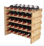 Het Meubilair van het huis Plank van de Wijn van de Kubus van het Rek van de Wijn van 2 Laag de Houten