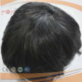 100% Base PU Cabello corto humana de cordón llena del borde del frente del cordón para hombre Bisoñes (PPG-l-0894)