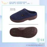 Тапочки хлопка ткани ботинок тапочки гостиницы ЕВА верхней теплой домашней Anti-Slip единственный крытый на зима