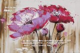 Pittura astratta del fiore per la decorazione domestica