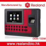 Часы Recoder посещаемости времени датчика фингерпринта Realand