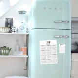 Fotos de Instagram da cópia em ímãs para a etiqueta do calendário do refrigerador