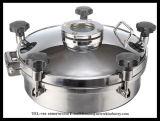 KreisEdelstahl-Becken-Verbindungsstück-Anblick-Glas-Druck Manway