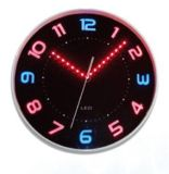 Reloj analogico atado con alambre con el reloj ligero de emisión luminoso del LED Digital