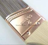Сплющенная щетка краски стены ручки синтетического кратчайшего пути нити деревянная