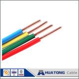 câblage électrique isolé par PVC de fil de terre de jaune de vert du fil 450V/750V dans la maison