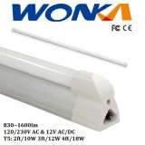 2FT/3FT/4FT 120/230V & 12V 830lm~1600lm Dimmable LED T5 관 빛