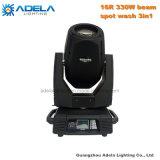 330W 16r bewegliches Hauptlicht der Träger-Punkt-Wäsche-3in1