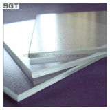 Splashbackかテーブルの上のためにガラス4mmの白い塗られた低い鉄