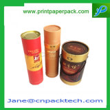 Cadre de empaquetage sec de Fruits&Nuts de boîte-cadeau de tube de thé fait sur commande de papier de luxe de rond