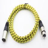 Nylon Schede 3pin van de Legering van het zink het Mannetje van de Kabel XLR aan Wijfje voor Microfoon