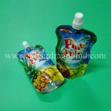 Bolso de pie de la bolsa de Pet/PE con el canalón para el jugo
