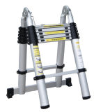 3.8m Aluminum Telescopic Folding Ladder mit Stabilizer Bars