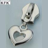Design personalizzato Platting Metal Zipper Puller& Nylon Zipper Slider per Luggage