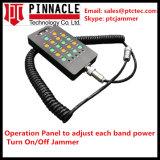 Jammer portátil, jammer do telefone de pilha, jammer completo do sinal, jammer interno das antenas