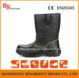 Altos zapatos de seguridad con estilo del cuero partido del tobillo Rh104