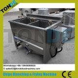 pommes chips ondulées automatiques de l'acier inoxydable 100/200/300/400kg/H faisant la machine