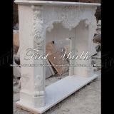 Binnen Marmeren Open haard mfp-1197 van Carrara van het Graniet van de Steen Witte