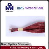 Hair humano Lady Hair Extension con el Tip de Nano