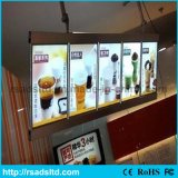La publicité de Snap Open Aluminum DEL Menu Light Box pour Fast Food Restaurant