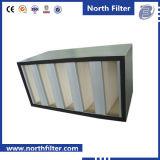 Гальванизированный V-Тип воздушный фильтр стальной рамки HEPA