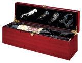 Коробка подарка представления вина отделки рояля Rosewood деревянная с инструментами