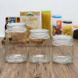 Fábrica Atacado Alta Qualidade Transparente Alimento Madeira tampa Garrafa de vidro de armazenamento (100029-1--6)