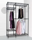 Cover를 가진 최고 Adjustable Metal Garment Wardrobe Rack