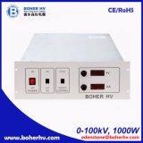 Alimentazione elettrica ad alta tensione della cremagliera 100kV 1000W LAS-230VAC-P1000-100K-4U