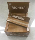 カスタムブランドの無漂白の麻のタバコのロール用紙(1.25のkingslimのサイズは選抜しなさい)