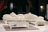 Sofà superiore reale classico del cuoio della mucca della mobilia domestica (UL-NSC102)