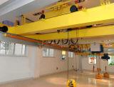 작업장을%s 전기 호이스트 드는 기계장치를 가진 유럽 기중기 두 배 대들보 광속 브리지 천장 기중기