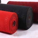 L'ago ha perforato le moquette scolpite nere rosse delle coperte scolpite Jacquarded