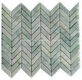 Зеленая каменная мозаика мрамора мозаики для стены и пола