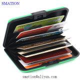 革女性IDのアルミ合金の金属の銀のクレジットカードの箱