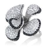 흑백 다이아몬드 925 순은 반지 보석