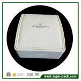 Декоративная белая пластичная кожаный коробка ювелирных изделий для Gift