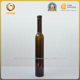 botella de cristal tapada con corcho verde oscuro de los 375m para el vino del hielo (098)